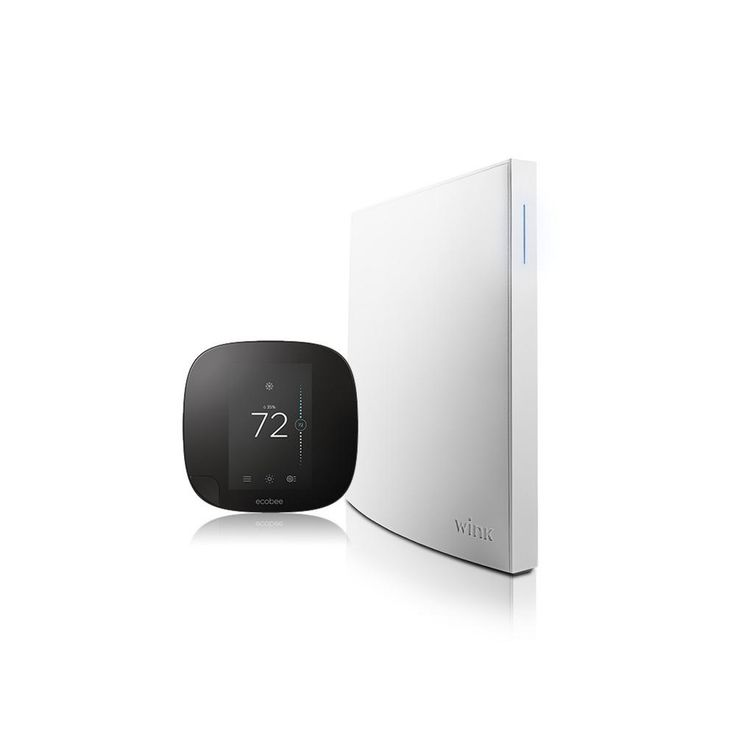 Wink Hub 2 + Ecobee3 Smart Home Control Kit, White