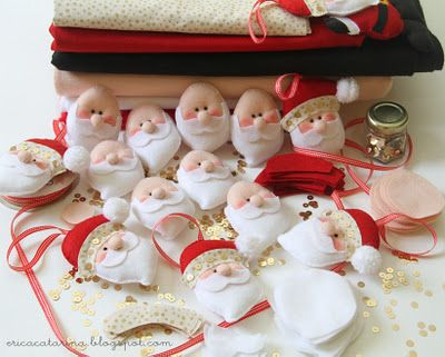 Cute Santa pattern for felt