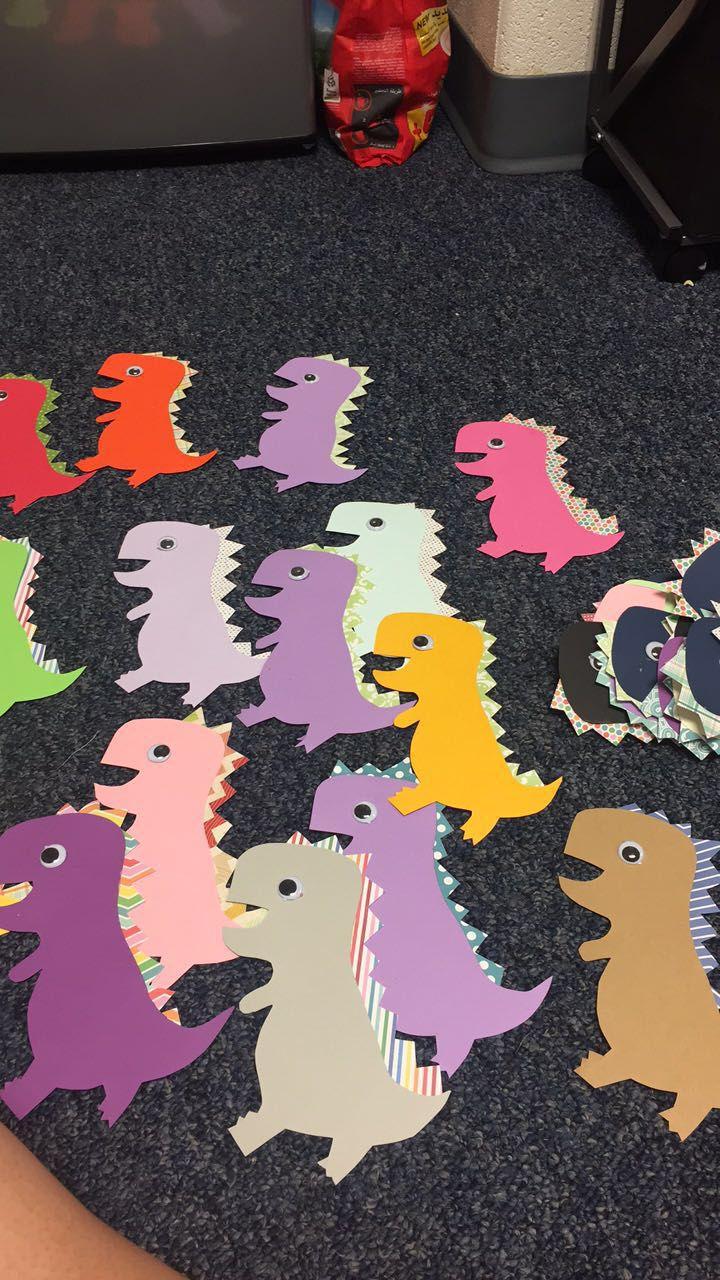 RA dinosaur door decs