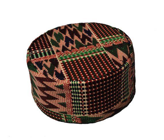 african print kente hat // african hat // african kufi // kufi