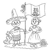 resultado de imagen para coloring pages for mexican independence day
