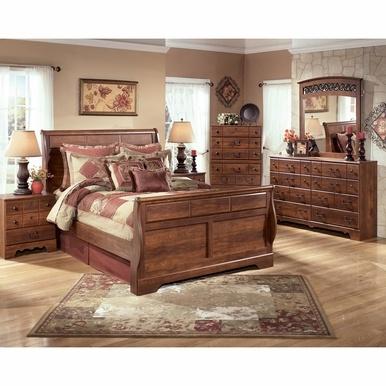 Signature Design By Ashley Timberline 3 Piece Queen Sleigh Bedroom Set Bedroom Sets Queen