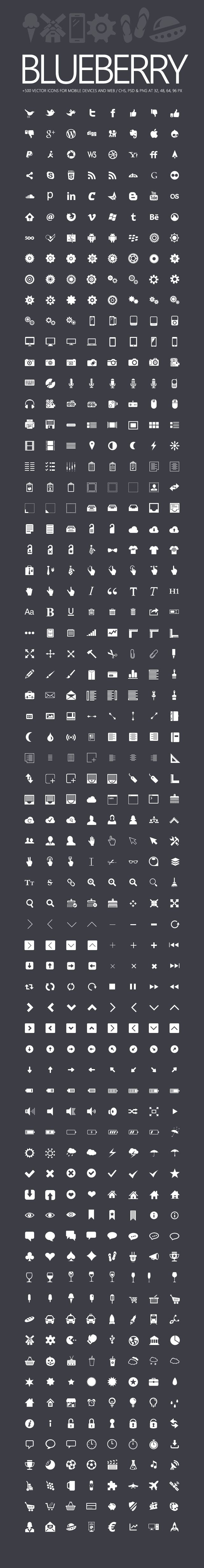Blueberry - 500+ Icons