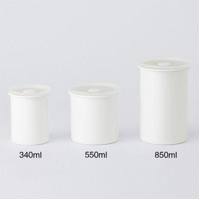 液体とニオイが漏れないバルブ付密閉ホーロー保存容器・丸型 約直径8×高さ10cm・約340ml   無印良品ネットストア