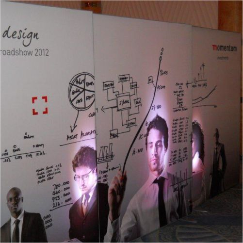 Utilising portable displays with lighting in client presentations #events #branding #rubyoriginal