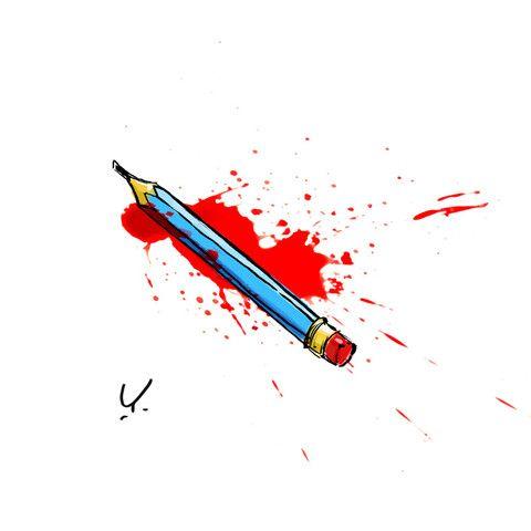 Hommage à Charlie Hebdo © Yan Le Pon