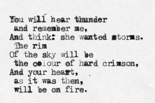 'You Will Hear Thunder' by Anna Akhmatova
