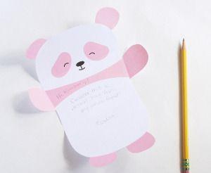Printable Pink Panda Paper   AllFreePaperCrafts.com