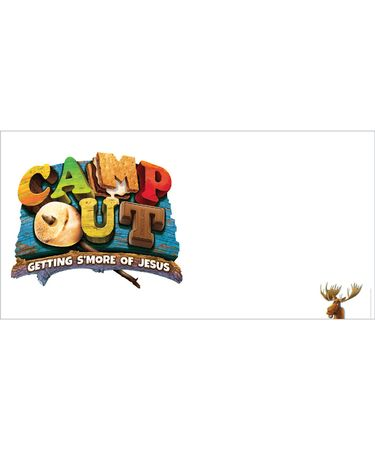 Camp Out Giant Outdoor Banner (8 ft. x 4 ft.)
