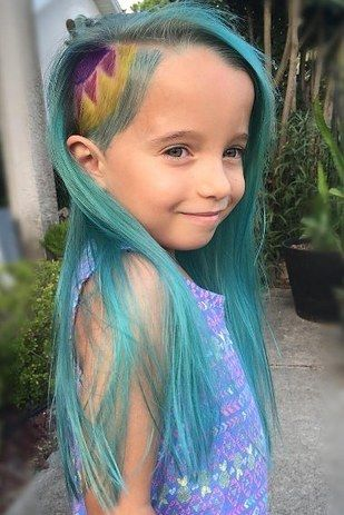 """""""She was so happy to come home the first week of school and tell us how many girls came up to tell her how much they loved her hair,"""" Thomaston said. """"She is normally very shy and this definitely has helped her show her personality, when normally she would not."""""""