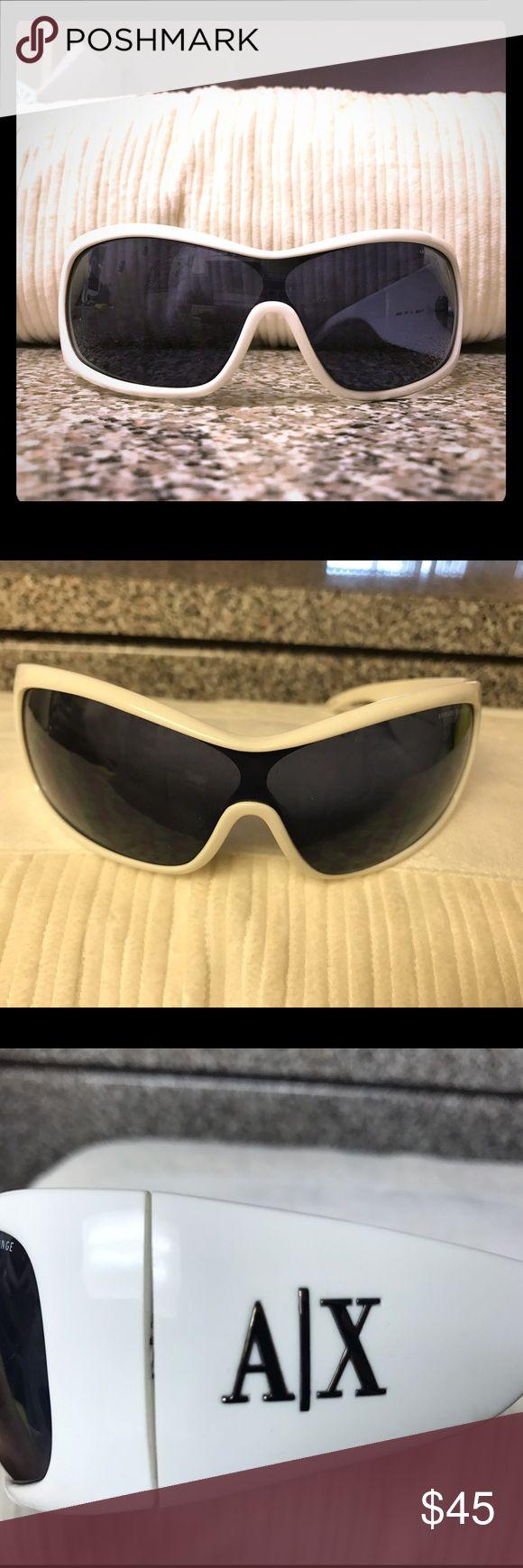 Armani white/black sunglasses Armani white/black sunglasses, they come with the original case. A/X Armani Exchange Accessories Glasses