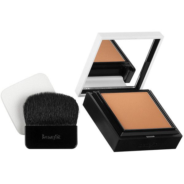 Benefit Cosmetics Hello Flawless! Powder Foundation ($34) ❤ liked on Polyvore featuring beauty products, makeup, face makeup, foundation, beauty, benefit foundation and powder foundation
