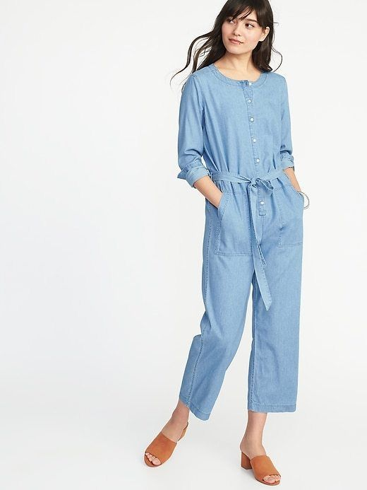 0480b830e7d0 New Old Navy Chambray Tie-Belt Utility Jumpsuit Size XS NWT  fashion   clothing  shoes  accessories  womensclothing  jumpsuitsrompers (ebay link)