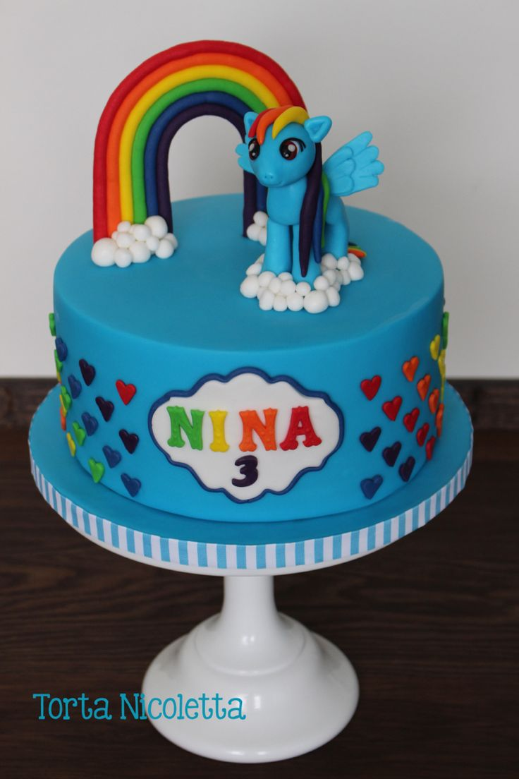 1000 images about my little pony and unicorn cakes on for Rainbow dash cake template