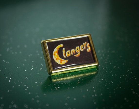 Retro The Clangers Gold Rectangle by UnofficiallyOriginal on Etsy