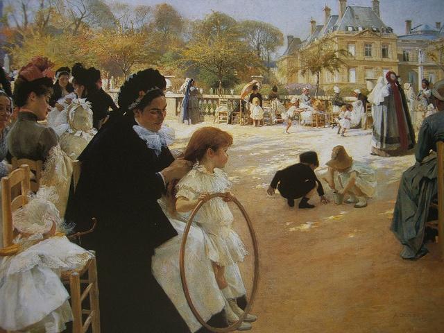 Albert Edelfelt, Le jardin du Luxembourg, 1887, Helsinki, Ateneum Art Museum, Finnish National Gallery