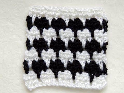 Crochet : Punto Fantasia en Blanco y Negro # 3 - YouTube