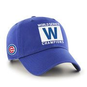 """Men's Chicago Cubs '47 Royal 2016 World Series Champions """"W"""" Flag Clean Up Adjustable Hat"""