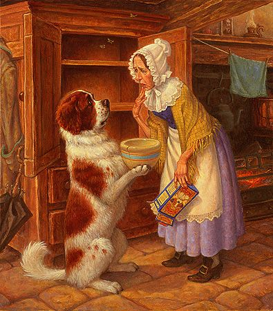 Old Mother Hubbard went to the cupboard to fetch her poor dog a bone  Scott Gustafson