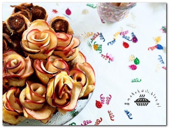 Jabłkowe róże ciastka imrezowe