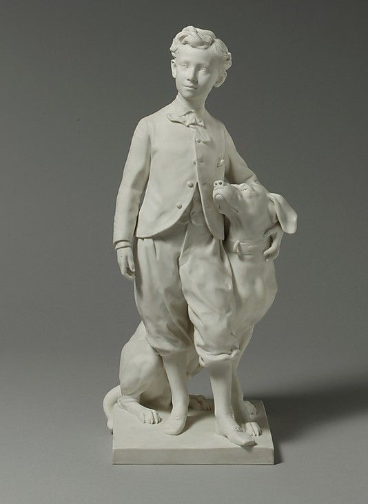 Sèvres Manufactory (French, 1740–present). The Prince Imperial with his Dog Nero, 1912. The Metropolitan Museum of Art, New York. Rogers Fund, 1972 (1972.79) #dogs