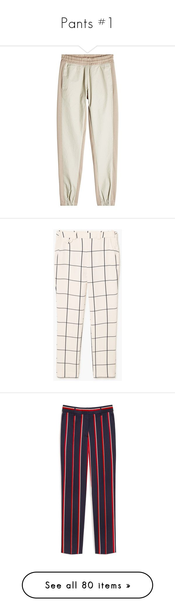 """""""Pants #1"""" by banana-lee ❤ liked on Polyvore featuring activewear, activewear pants, pants, beige, track pants, adidas originals, pantalones, pink trousers, mango trousers and checked pants"""
