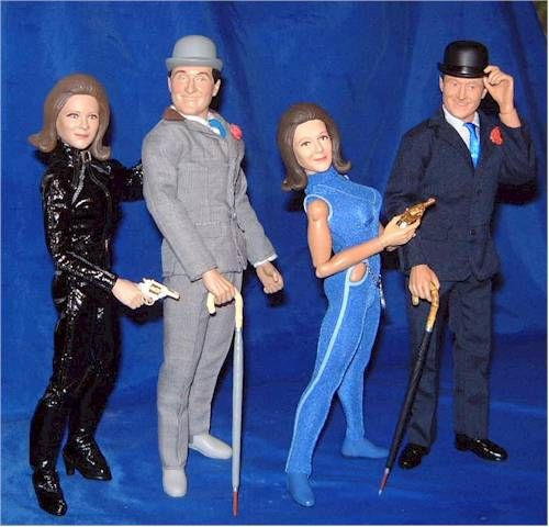 Emma Peel and John Steed in the Avengers made by Product Enterprise