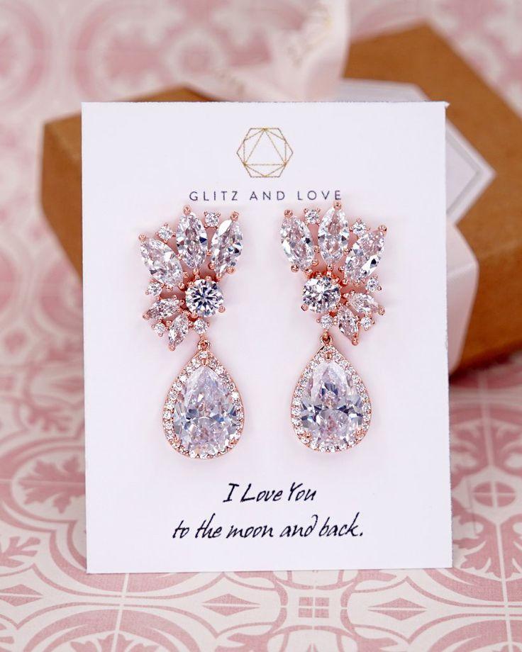 Bridal CZ Earrings and Bracelet | Brides Bridesmaid Wedding Jewelry – j e w e l r y