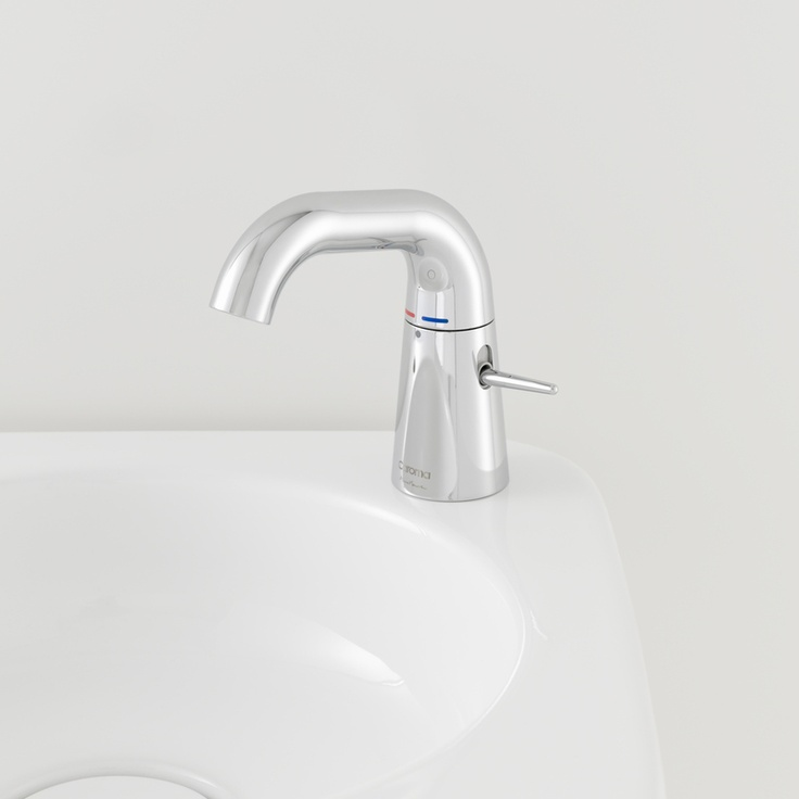 Featuring unique lever and swivel operation for a minimalist look, this mixer is designed as the ideal complement to the range of basins in the Caroma Marc Newson collection.