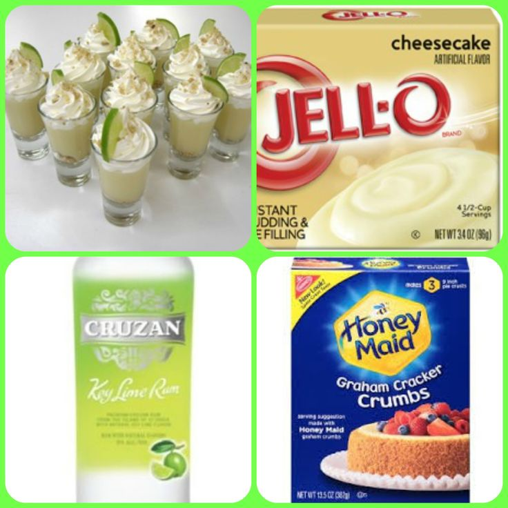 Key Lime Cheesecake Pudding Shots  https://www.facebook.com/puddingshot/photos/a.872143682815241.1073741833.612745618755050/926319864064289/?type=1&theater