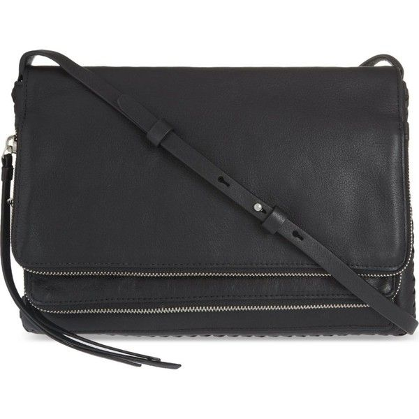 ALLSAINTS Club crossbody bag (305 CAD) ❤ liked on Polyvore featuring bags, handbags, shoulder bags, black, crossbody shoulder bag, crossbody handbags, crossbody purses, cross body and allsaints