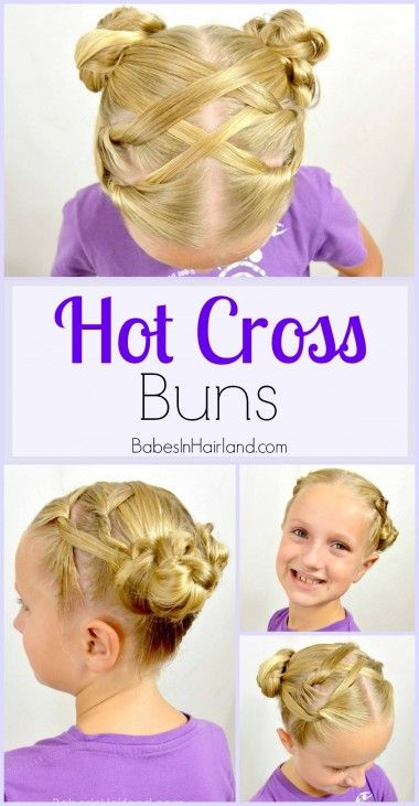 Hot Cross Buns Hairstyle from BabesInHairland.com #buns #braids #knots #hairstyle
