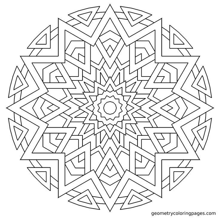"""Fiesta"" geometrycoloringpages"