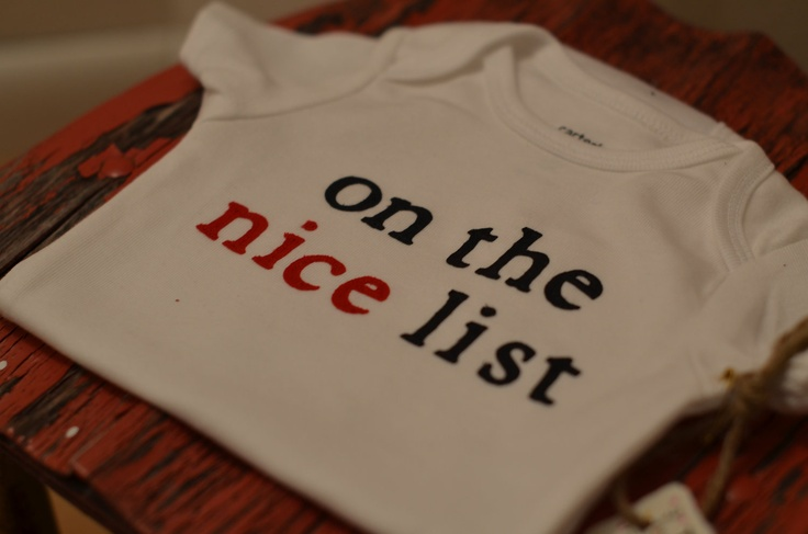 Christmas Holiday onesie - on the nice list