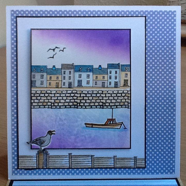 Hobby art stamps harbour scene-it