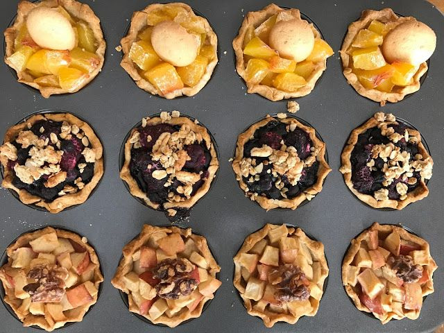 Individual Pies Three Ways: Peach, Mixed Berry and Baked Brie with ...