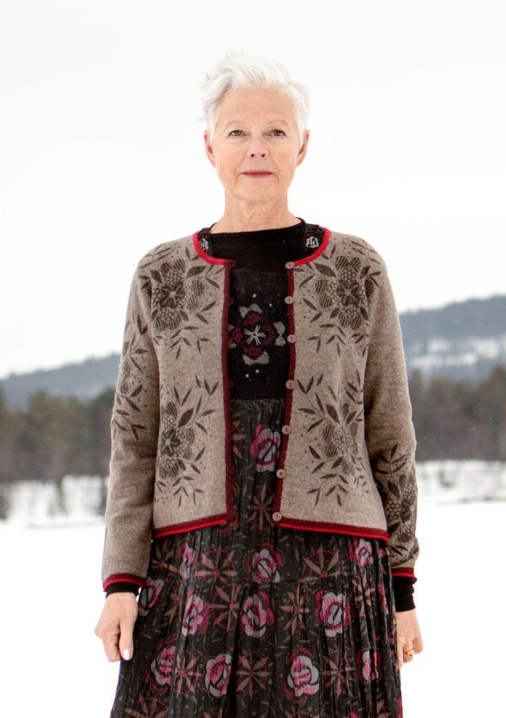 """Vest """"Bloom"""" van viltwol–Winter 2014–GUDRUN SJÖDÉN – Kleding Online & Postorder"""