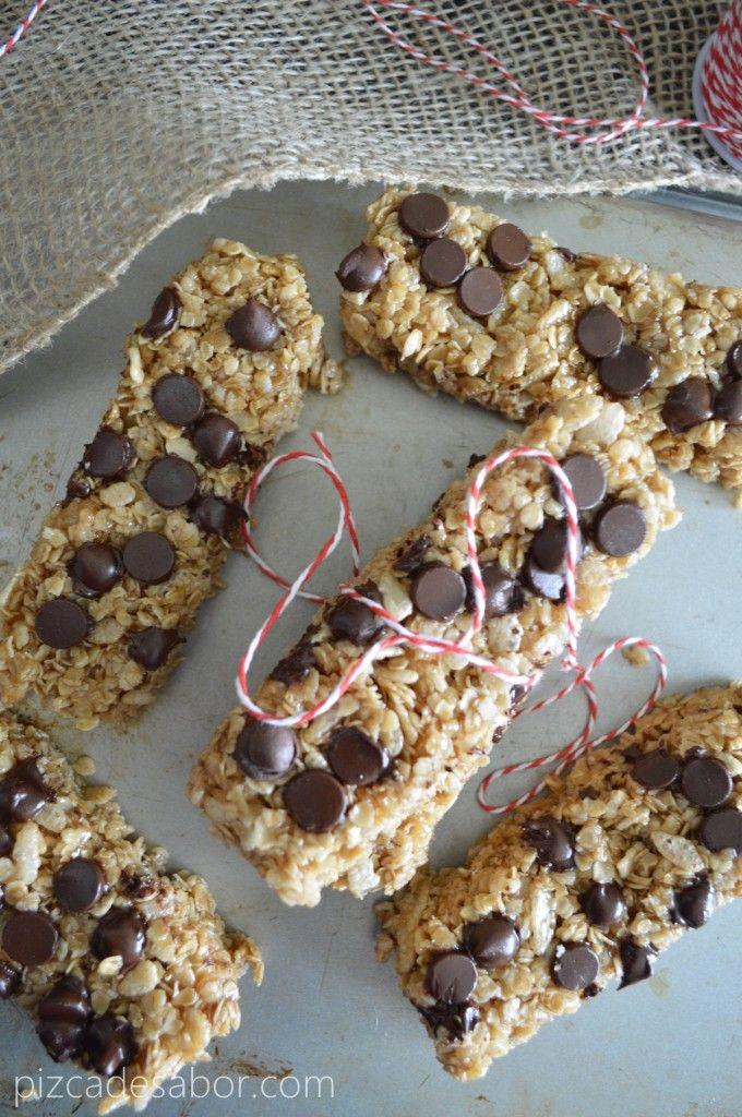 Barritas de granola caseras (sin prender el horno, sin gluten y fáciles) – www.pizcadesabor.com