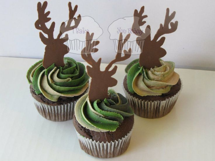 DADDY TO BE SHOWER camo cupcakes | Deer and Camo - by susieqhomemaker @ CakesDecor.com - cake decorating ...