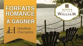 Grand concours Enfin le Printemps ! 5 forfaits romance à gagner au Manoir du Lac William, fier membre du réseau Hôtellerie Champêtre !  http://bit.ly/1guIfO7