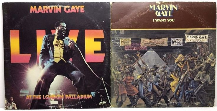 Marvin Gaye LP Vinyl Record Album Lot: I Want You + Live at the London Palladium stores.ebay.com/capcollectibles