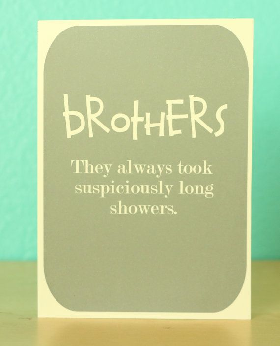 Fratelli carta umorismo doccia scheda di di comradecards su Etsy