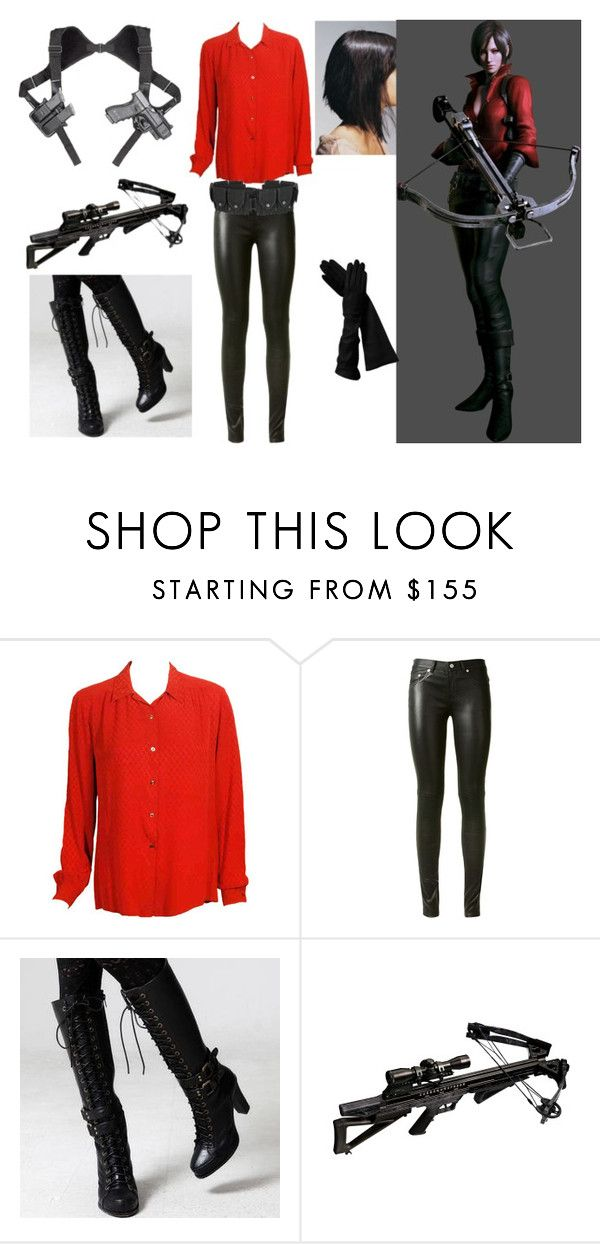 """""""Ada Wong Resident Evil 6 Cosplay"""" by thesherbear ❤ liked on Polyvore featuring Gucci, Yves Saint Laurent and FOXCiTY"""