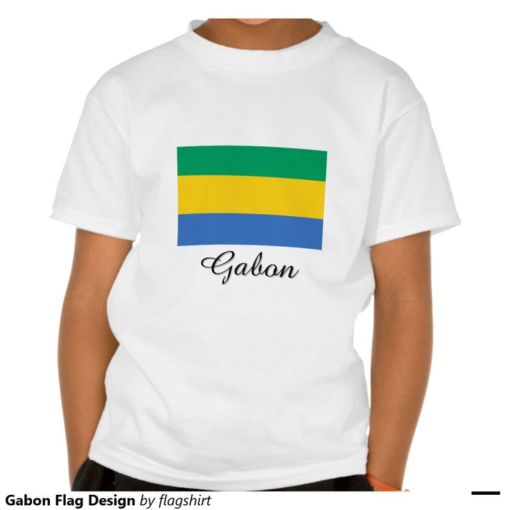 Gabon Flag Design T Shirts