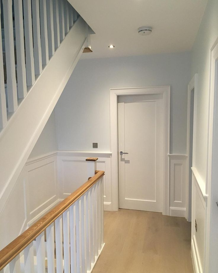 Wainscoting job finished in Blackrock. Check out our facebook page to see the full Job including Shutters #recent #blackrock #wainscoting #wallpanellingdublin #wallpanellingireland #hallstairsandlanding #newhampshireinteriors #shutterco #wallpanelling @shutterco_nhi