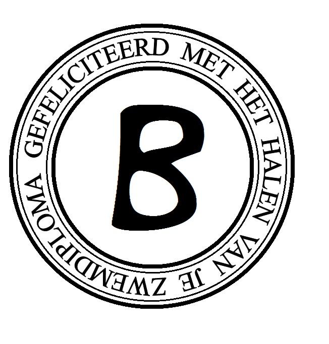 zwemdiploma b badge