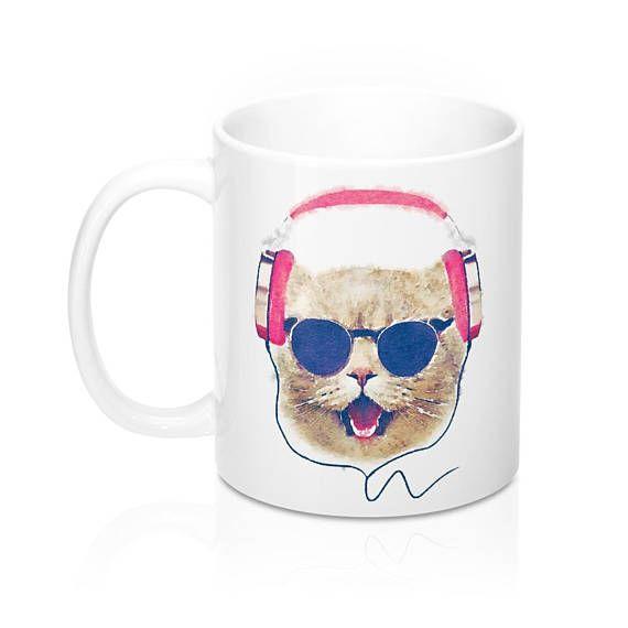 Cool Cat Mug Cat Lover Gift Cat Coffee Mug Funny Cat Mug Cat