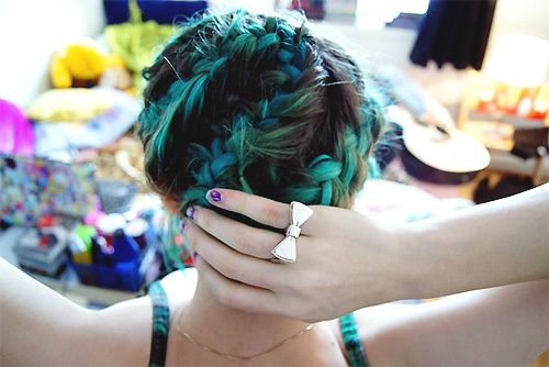 : Hair Ideas, Braid Bluehair, Hairstyles, Hair Colors, Blue Braids, Hair Styles, Blue Hair, Hairstyle Braid