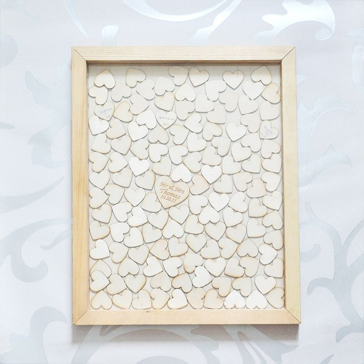Cheap box perfect, Buy Quality box outside directly from China box therapy Suppliers: Personalised Wedding Guest book, Custom Drop top Drop box wedding alternative GuestBook with 130 hearts, Rustic Wedding