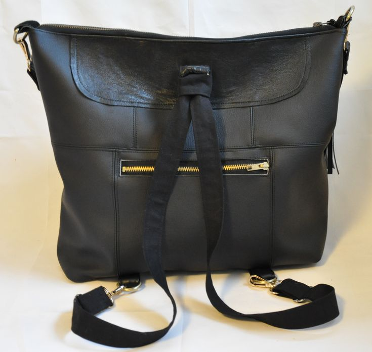 Convertible diaper bag with removable organizer